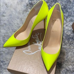 RARE Christian Louboutin Pigalle Fluo Neon
